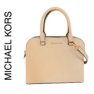 NWT authentic MK leather Cindy dome satchel oyster